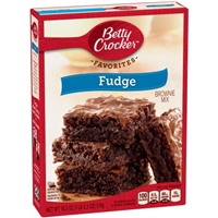 Betty Crocker Chewy Fudge Brownies Mix 13 x 9 Family Size Food Product Image