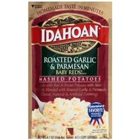 Idahoan Roasted Garlic & Parmesan Baby Reds Flavored Mashed Potatoes Food Product Image