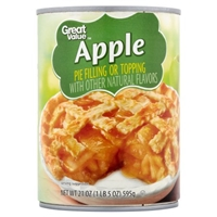 Great Value Pie Filling Or Topping Apple Food Product Image