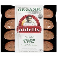 Aidells Organic Spinach & Feta Smoked Chicken Sausage Product Image