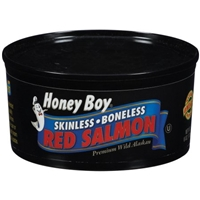 Honey Boy Skinless Boneless Red Salmon Food Product Image