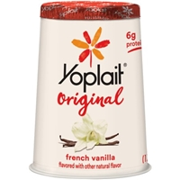 Yoplait Original 99% Fat Free French Vanilla Flavored Low Fat Yogurt Food Product Image