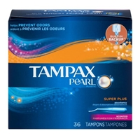 Tampax Pearl Plastic Fresh Scent Super Plus Tampons - 36 CT Food Product Image