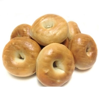 Daily Chef Sliced Mini Plain Bagels Food Product Image