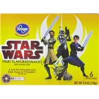 Kroger Star Wars Fruit Snacks Food Product Image