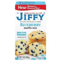 Jiffy Blueberry Muffin Mix 7 oz Food Product Image