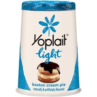 Yoplait Light Fat Free Yogurt  Boston Cream Pie Food Product Image