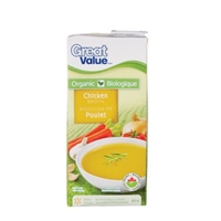 Organic Great Value Ls Chicken Broth Food Product Image