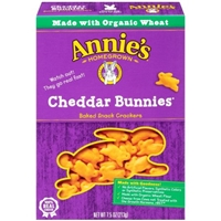 Annie's Homegrown Cheddar Bunnies Baked Snack Crackers Food Product Image