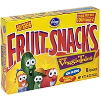 Kroger Fruit Snacks Veggies Tales, Assorted Fruit Flavors Food Product Image