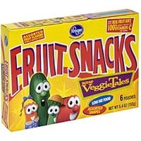Kroger Fruit Snacks Veggies Tales, Assorted Fruit Flavors Food Product Image