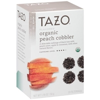 Tazo Organic Peach Cobbler Black Tea Bags Food Product Image