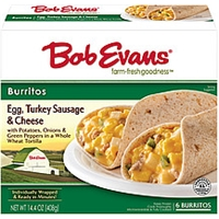 Bob Evans Burritos Turkey Sausage, Egg & Cheese - 6 Ct Food Product Image