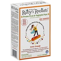 Rubys Rockets Frozen Fruit & Vegetable Pops Orbit Orange Food Product Image