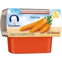 Gerber All Natural 1st Foods Carrots - 2 PK Food Product Image