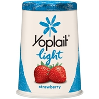 Yoplait Light Fat Free Yogurt Strawberry Food Product Image