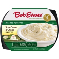 Bob Evans Mashed Potatoes Sour Cream & Chives Food Product Image