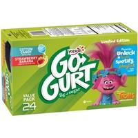 Yoplait Go-Gurt Cotton Candy and Strawberry-Banana