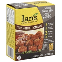Ians Chicken Nuggets Breaded, Smokin' Sweet Bbq Food Product Image