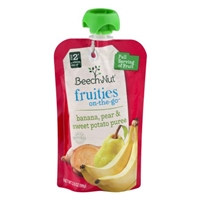 Beech-Nut Fruities On-The-Go Banana, Pear & Sweet Potato Puree Stage 2 Food Product Image