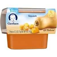 Gerber All Natural 1st Foods Squash - 2 PK Food Product Image