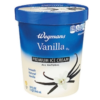 Wegmans Ice Cream & Popsicles Ice Cream, Premium, Vanilla Food Product Image