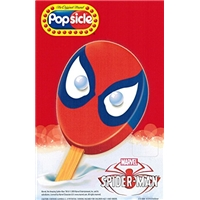 Popsicle Popsicle, Marvel, Spider-Man, Frozen Confection With Gumballs, Lemon And Strawberry, Artificial Flavor Added Food Product Image