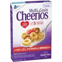 General Mills Multi-Grain Cheerios Cereal Gluten Free Food Product Image