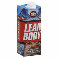 Lean Body Chocolate Ice Cream Shake Food Product Image
