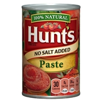 Hunt's 100% Natural No Salt Added Tomato Paste Food Product Image