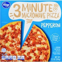 Kroger 3 Minute Microwave Pepperoni Pizza Food Product Image