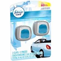 Febreze Car Vent Clips Linen & Sky - 2 CT Food Product Image