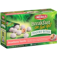 Emerald Breakfast On The Go! Yogurt Bites Strawberry Vanilla Food Product Image