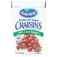 Ocean Spray Craisins Dried Cranberries Reduced Sugar Food Product Image