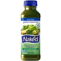 Naked 100% Juice Smoothie Boosted Green Machine Food Product Image