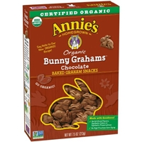 Annie's Homegrown Bunny Grahams Chocolate Food Product Image