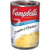 Campbell's Cream of Chicken Condensed Soup Food Product Image