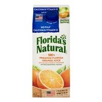 Florida's Natural 100% Orange Juice No Pulp Calcium Vitamin D Food Product Image