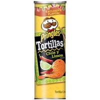 Pringles Tortillas Crisps Tortillas Chile Y Limon Food Product Image