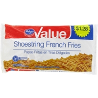 Kroger Value Shoestring French Fries Food Product Image