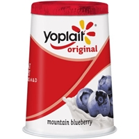 Yoplait Original Low Fat Yogurt Mountain Blueberry Food Product Image