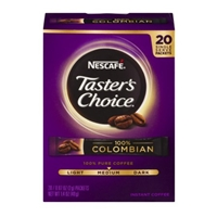 Nescafe Taster's Choice Instant Coffee 100% Colombian Medium Roast - 20 CT
