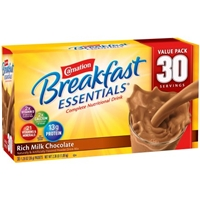 Carnation Breakfast Essentials Rich Milk Chocolate Complete Nutritional Drink 30-1.26 oz. Packets Food Product Image