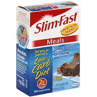 Slim-Fast Meal Bar Chocolate Brownie Food Product Image