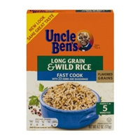Uncle Ben's Long Grain & Wild Rice Fast Cook Food Product Image