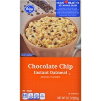 Kroger Chocolate Chip Instant Oatmeal Food Product Image