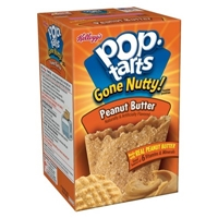 Kellogg's Pop-Tarts Gone Nutty Peanut Butter Pastries 6 ct Food Product Image