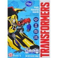 Kroger Transformers Fruit Snacks Food Product Image