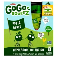 GoGo Squeez Applesauce On The Go Apple Apple - 4 CT Food Product Image