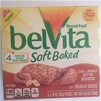 Nabisco Belvita Soft Baked Breakfast Biscuits Oats & Peanut Butter - 5 Pk Food Product Image